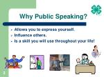 why public speaking