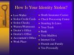 how is your identity stolen