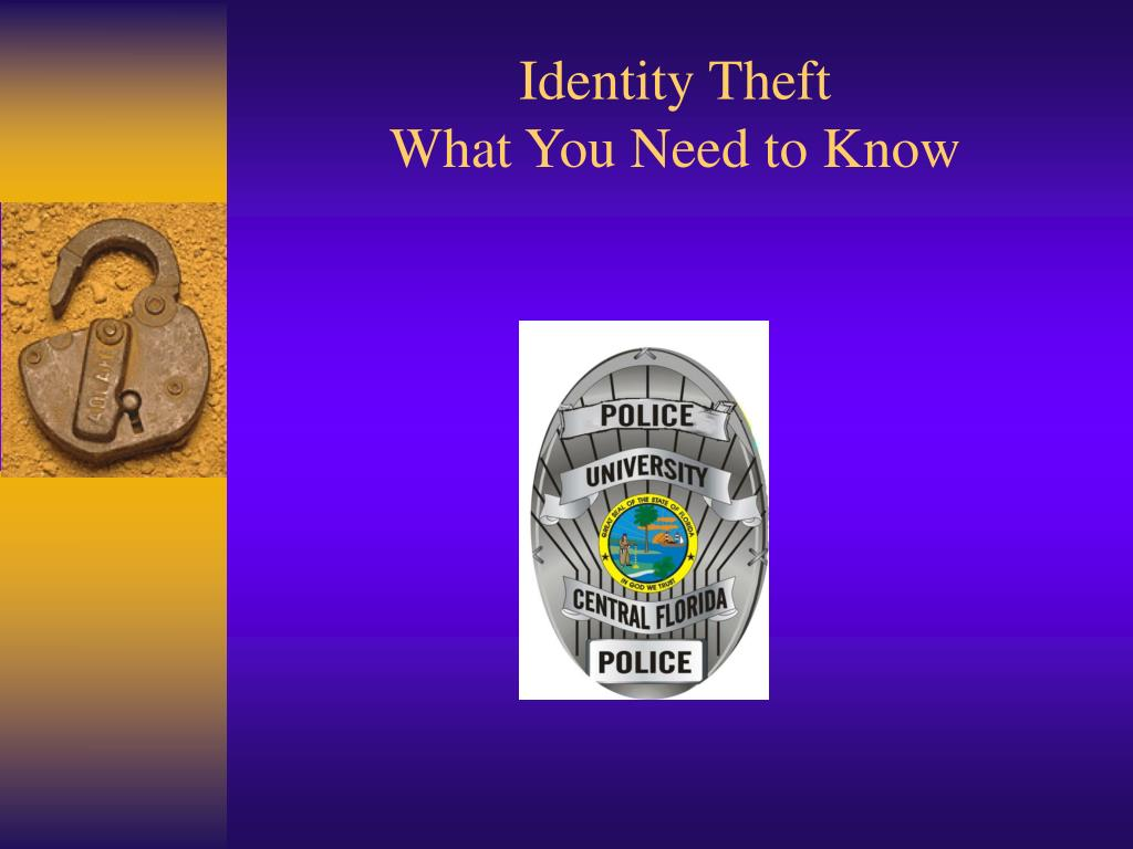 identity theft what you need to know l.