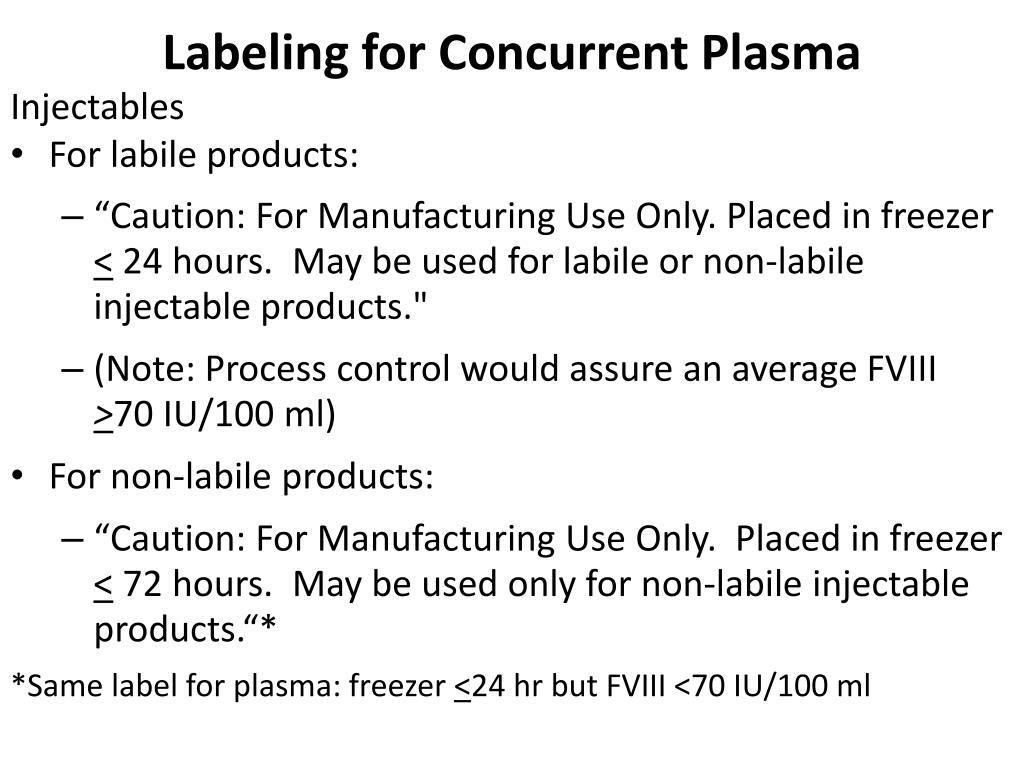 Labeling for Concurrent Plasma