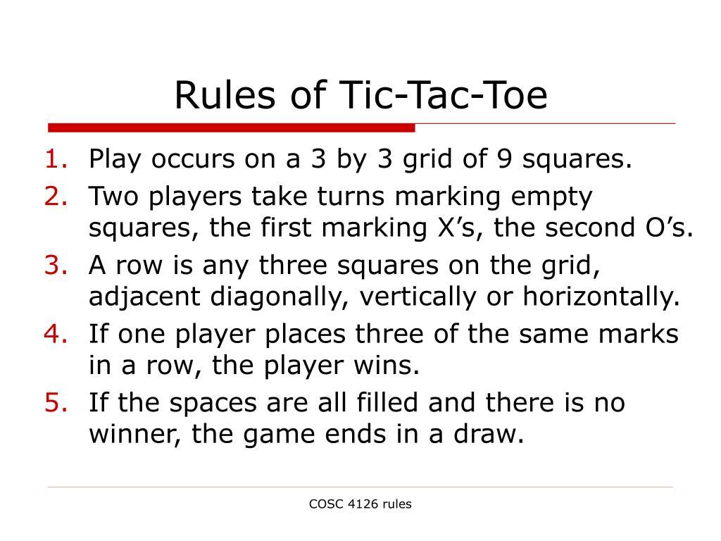 Rules of Tic-Tac-Toe