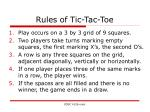 rules of tic tac toe