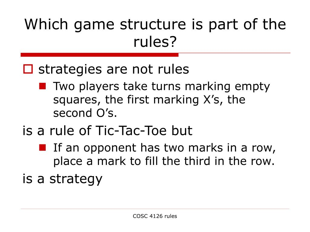 Which game structure is part of the rules?