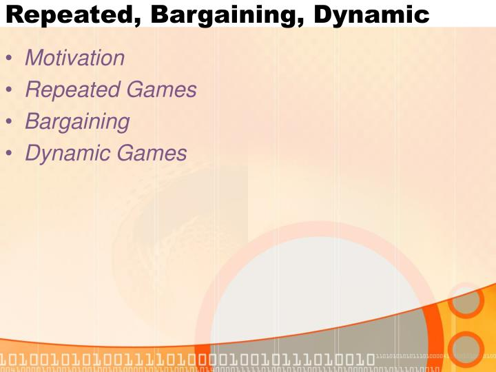 Repeated bargaining dynamic