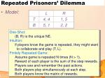 repeated prisoners dilemma