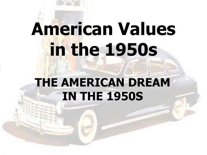 american values in the 1950s n.