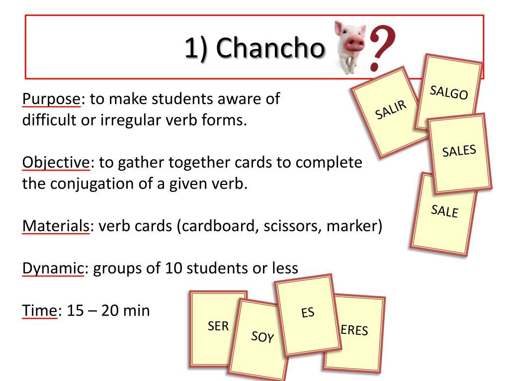 1) Chancho