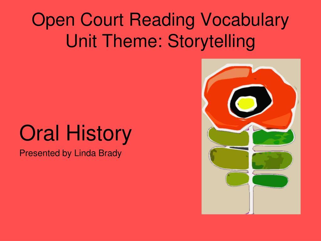Open Court Reading Vocabulary