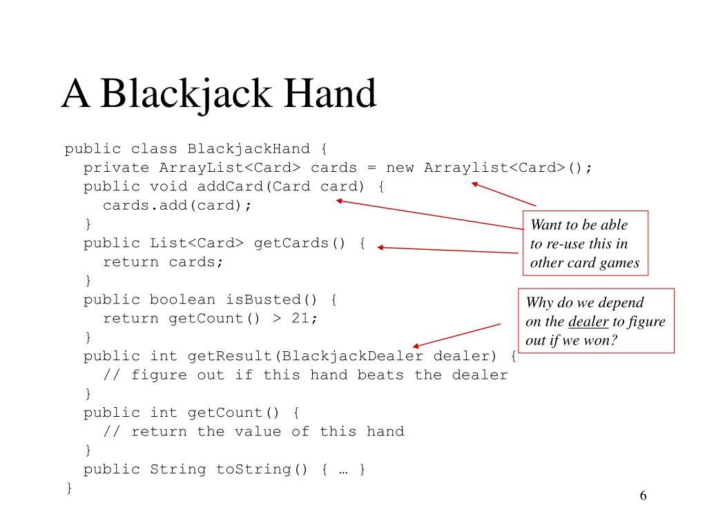 A Blackjack Hand
