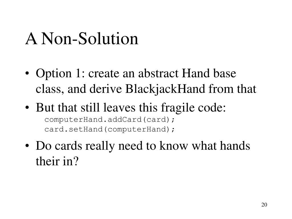 A Non-Solution