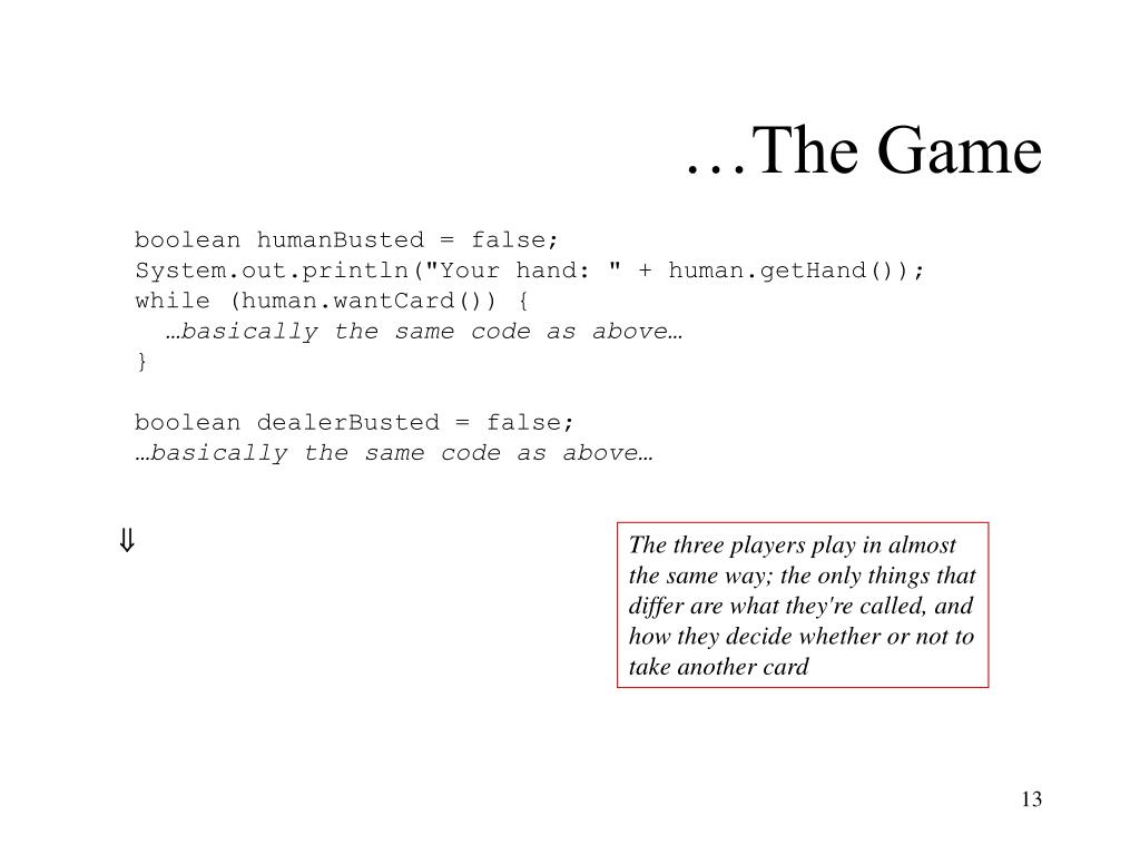 …The Game