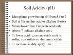 soil acidity ph
