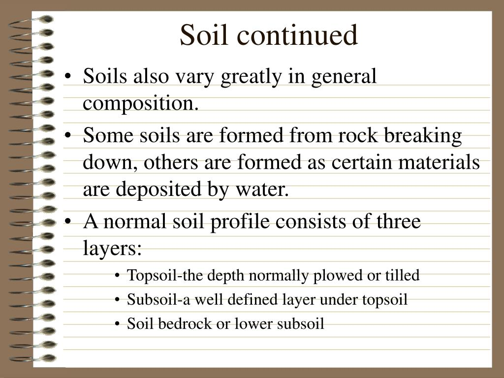 Soil continued