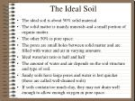 the ideal soil