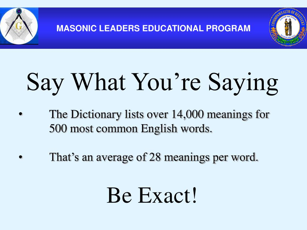 PPT - MASONIC LEADERS EDUCATIONAL PROGRAM PowerPoint