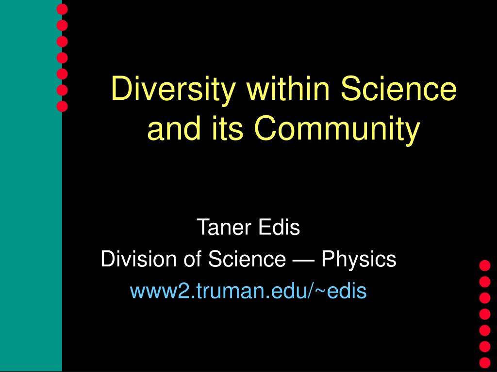 diversity within science and its community l.