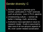 gender diversity c