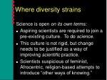 where diversity strains