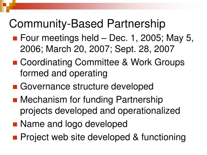 Community based partnership