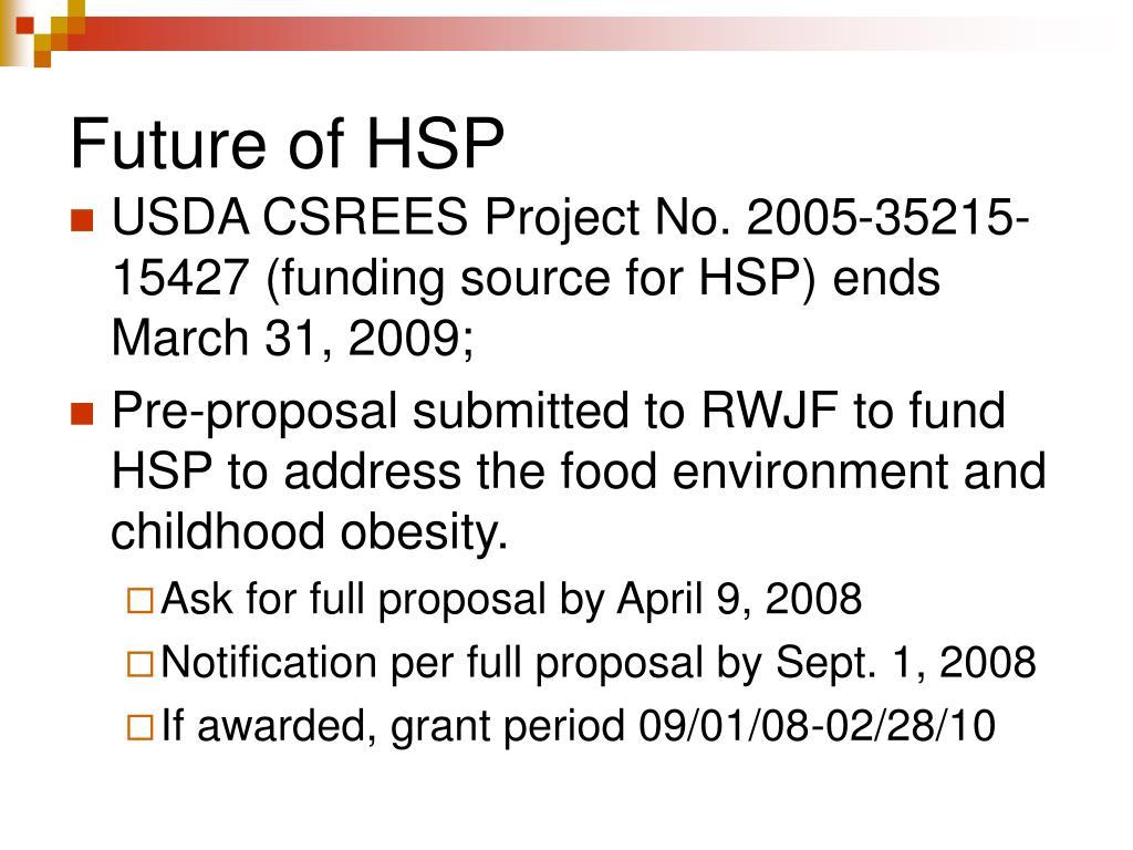 Future of HSP