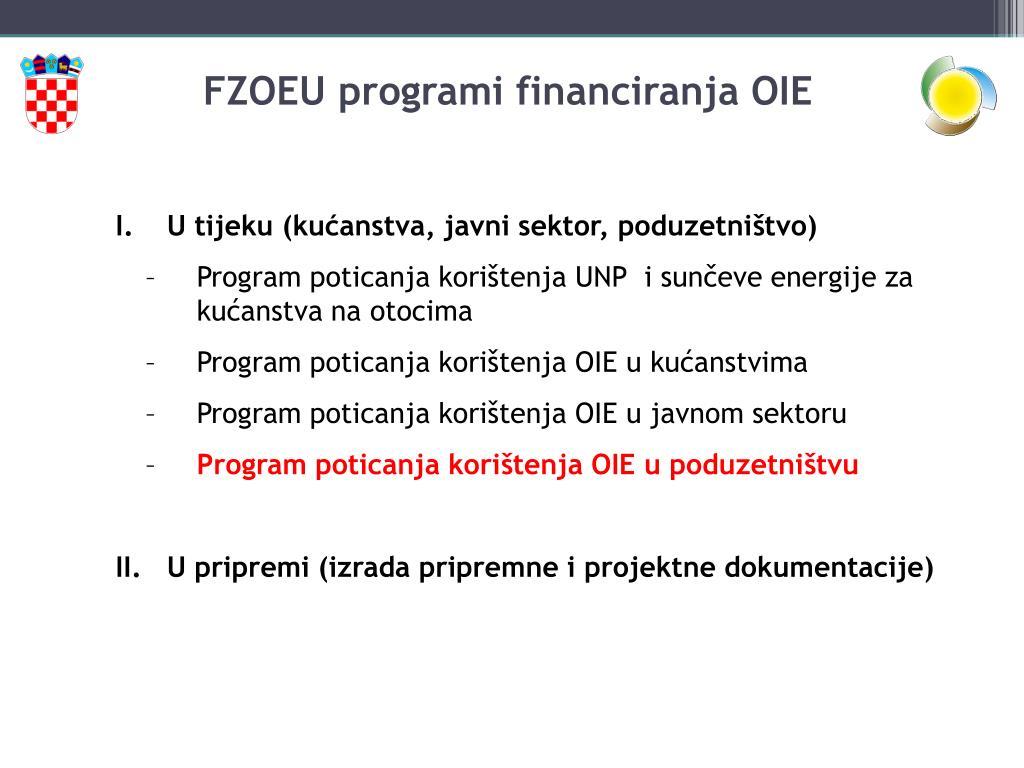 FZOEU programi financiranja OIE