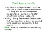 the library cont d
