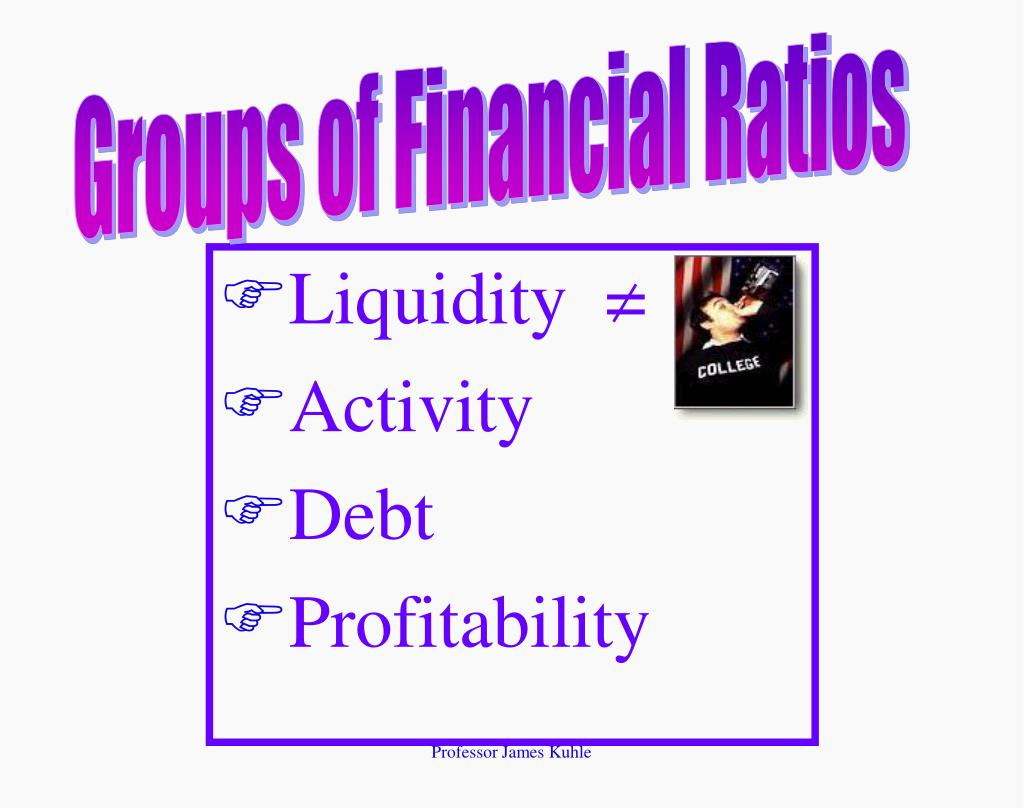 Groups of Financial Ratios