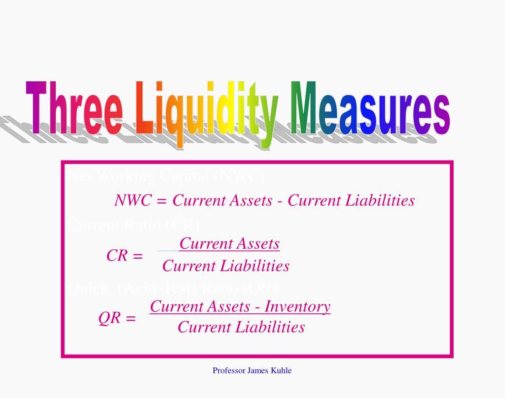 Three Liquidity Measures