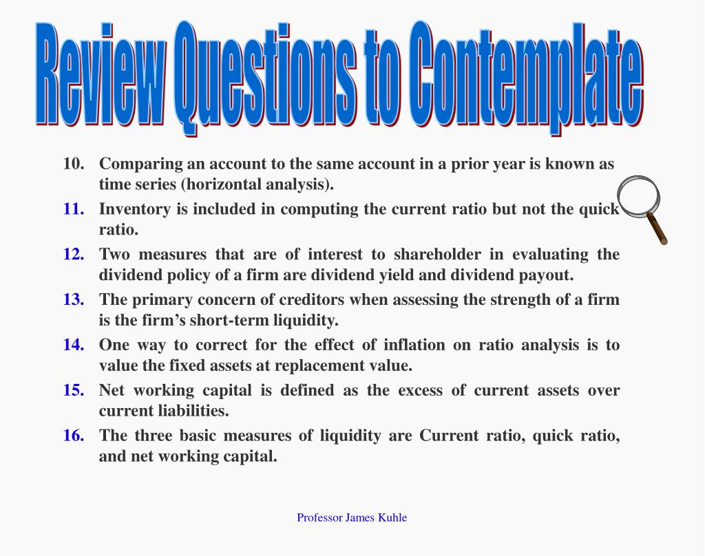 Review Questions to Contemplate