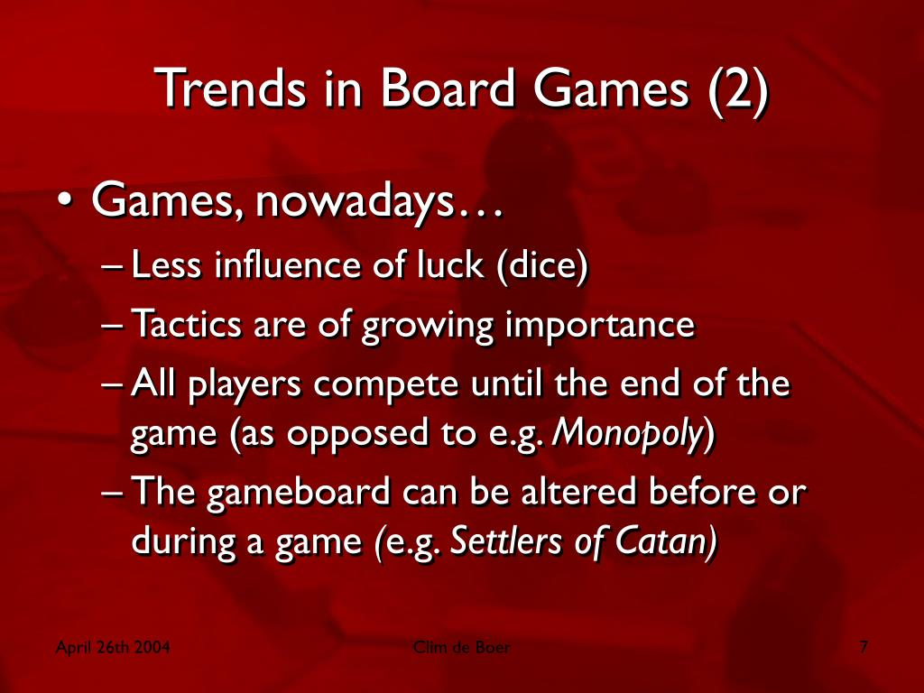 Trends in Board Games (2)