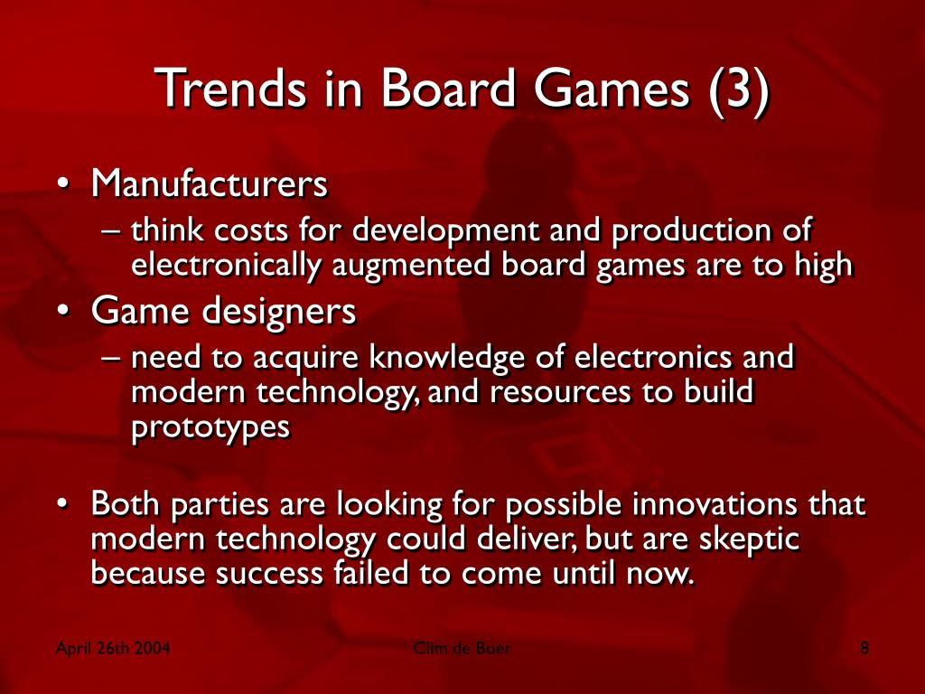 Trends in Board Games (3)
