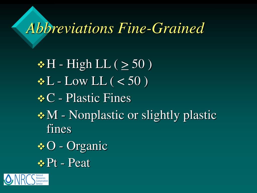 Abbreviations Fine-Grained