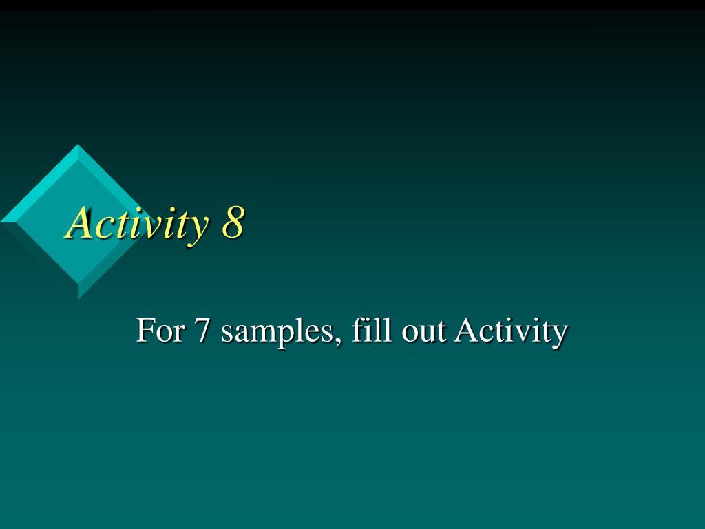 Activity 8