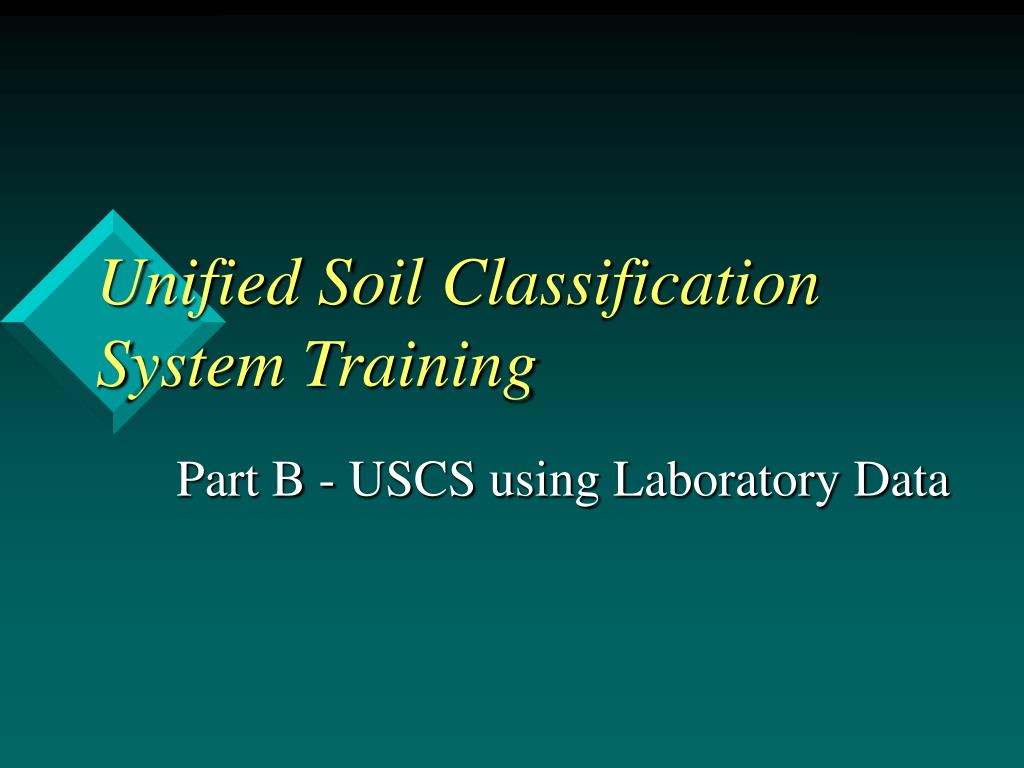 Unified Soil Classification System Training