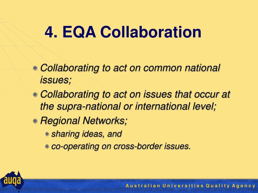 4. EQA Collaboration