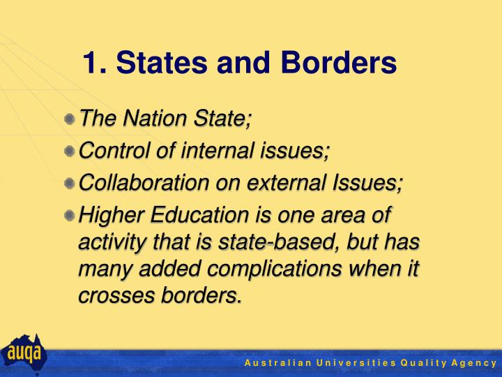 1. States and Borders