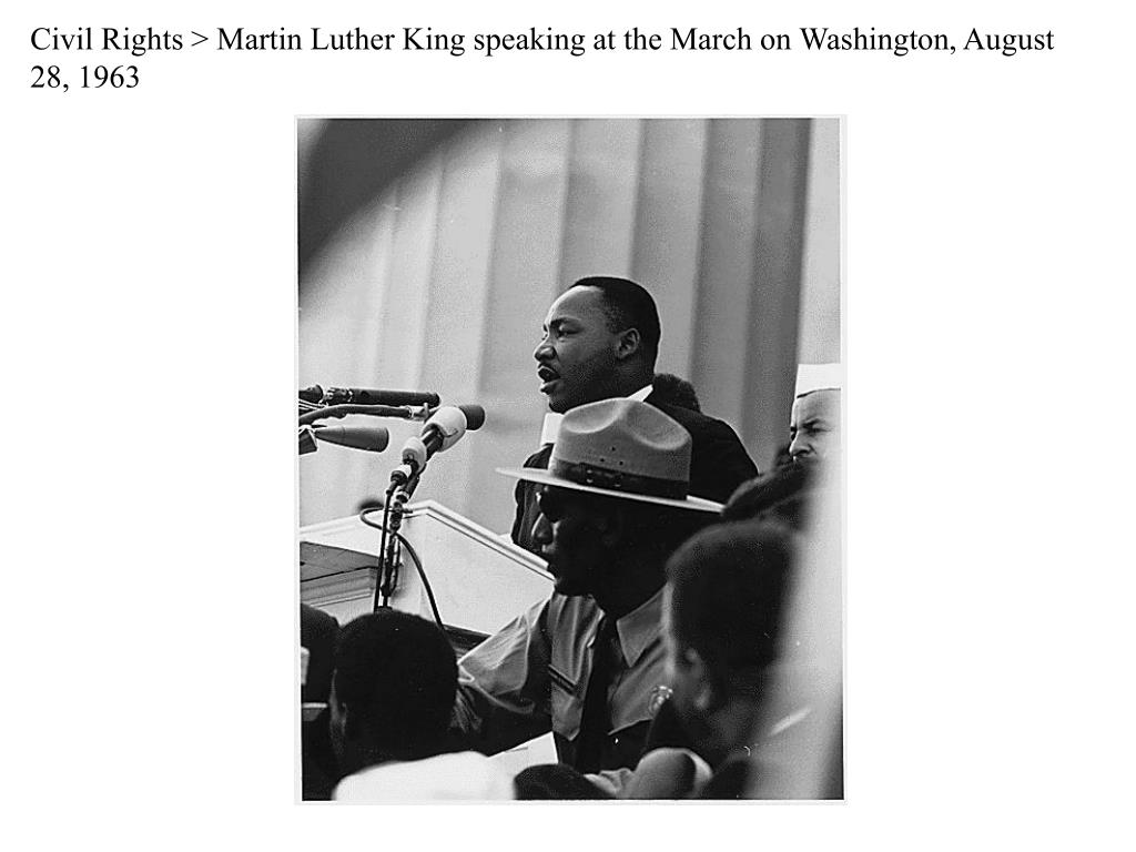 Civil Rights > Martin Luther King speaking at the March on Washington, August 28, 1963