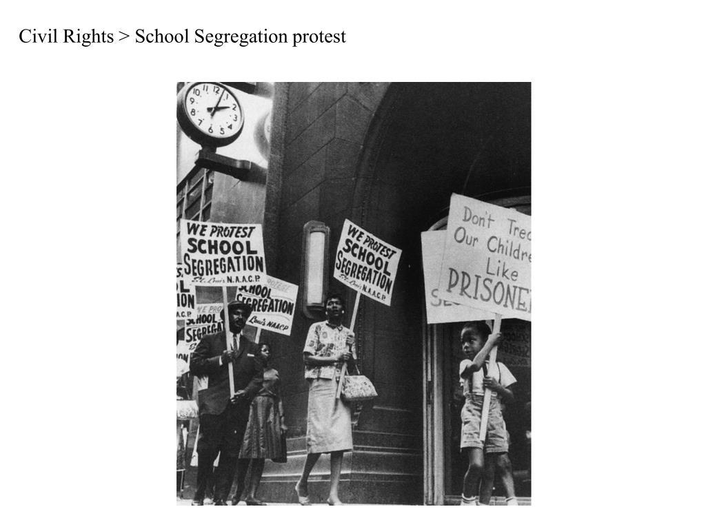 Civil Rights > School Segregation protest