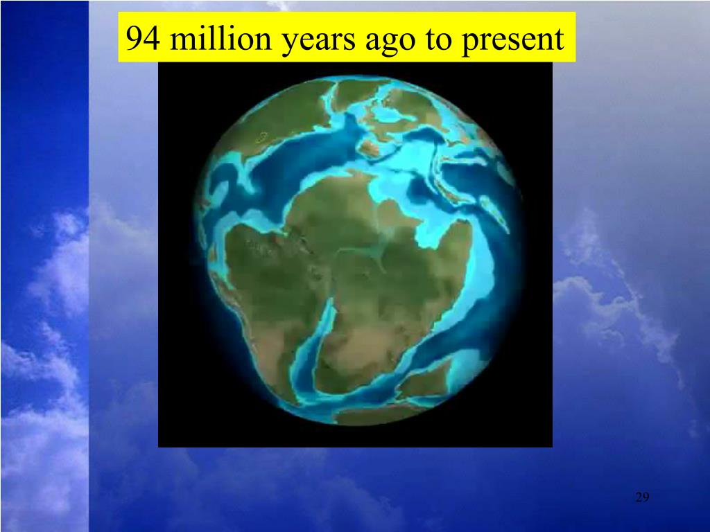 94 million years ago to present