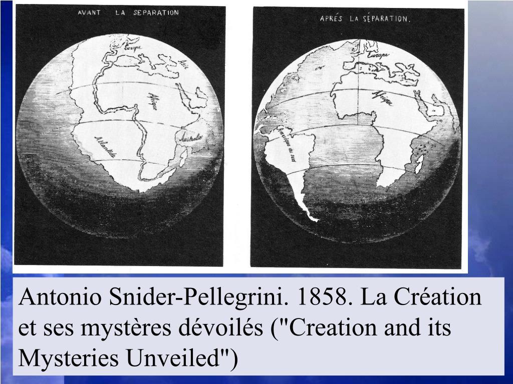 """Antonio Snider-Pellegrini. 1858. La Création et ses mystères dévoilés (""""Creation and its Mysteries Unveiled"""")"""