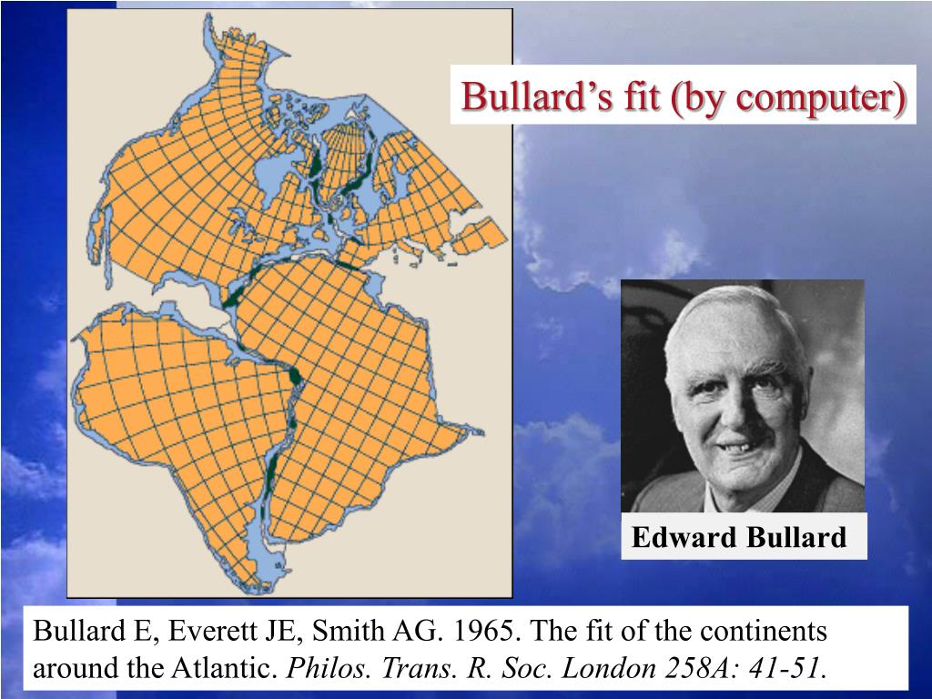 Bullard's fit (by computer)