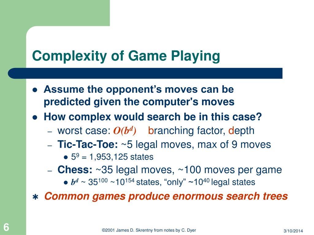 Complexity of Game Playing