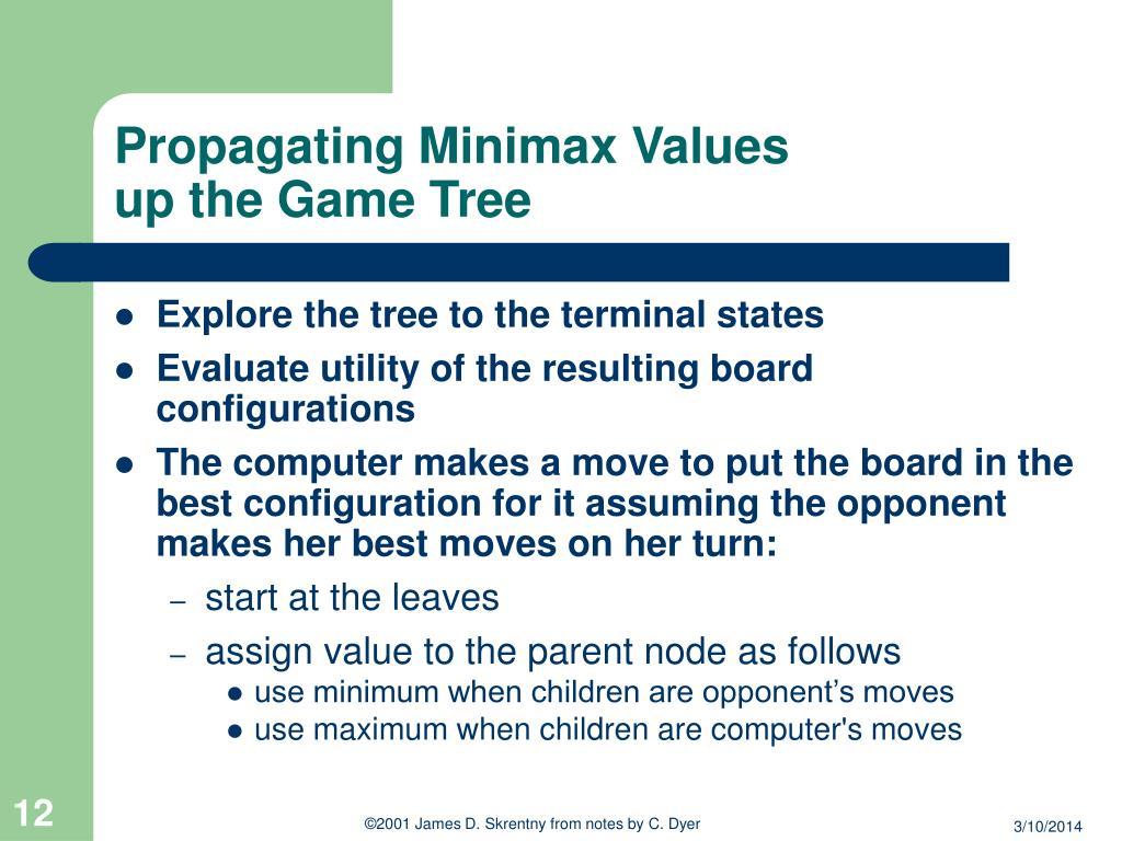 Propagating Minimax Values