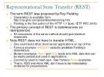 representational state transfer rest