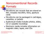 nonconventional records formats