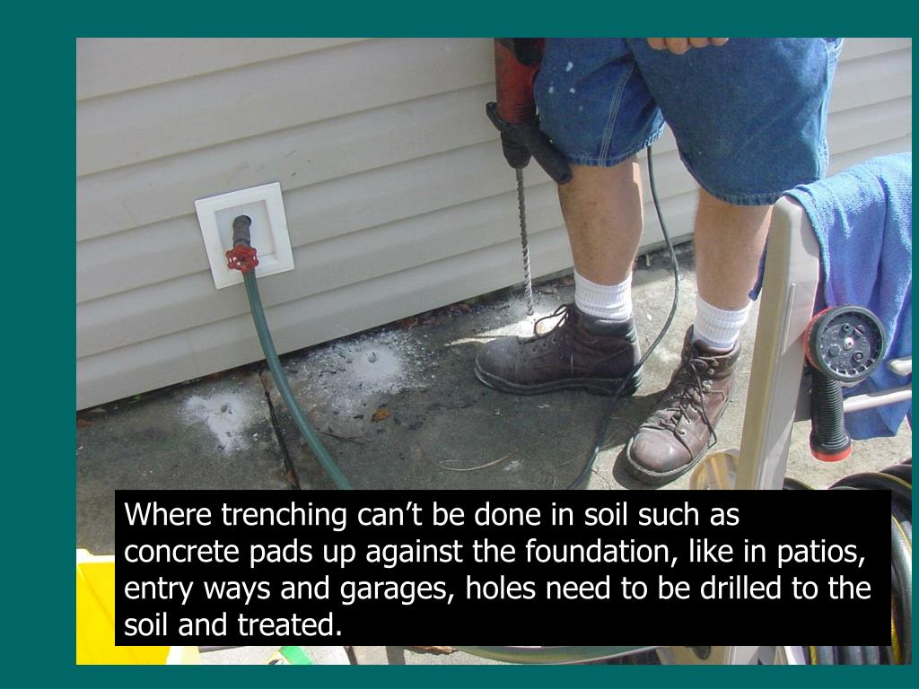 Where trenching can't be done in soil such as