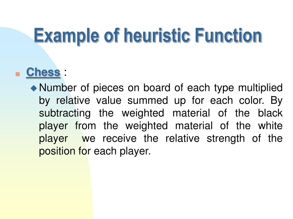 Example of heuristic Function