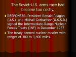 the soviet u s arms race had become too costly