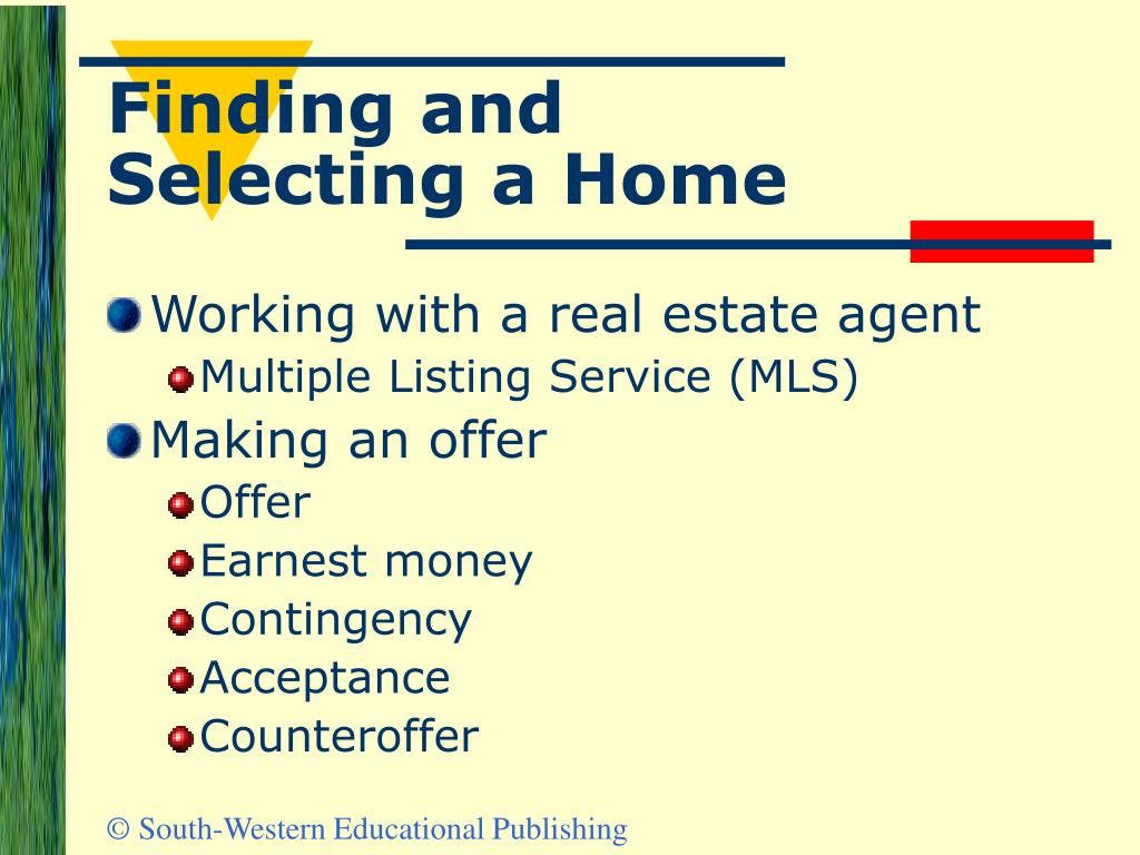 Finding and Selecting a Home