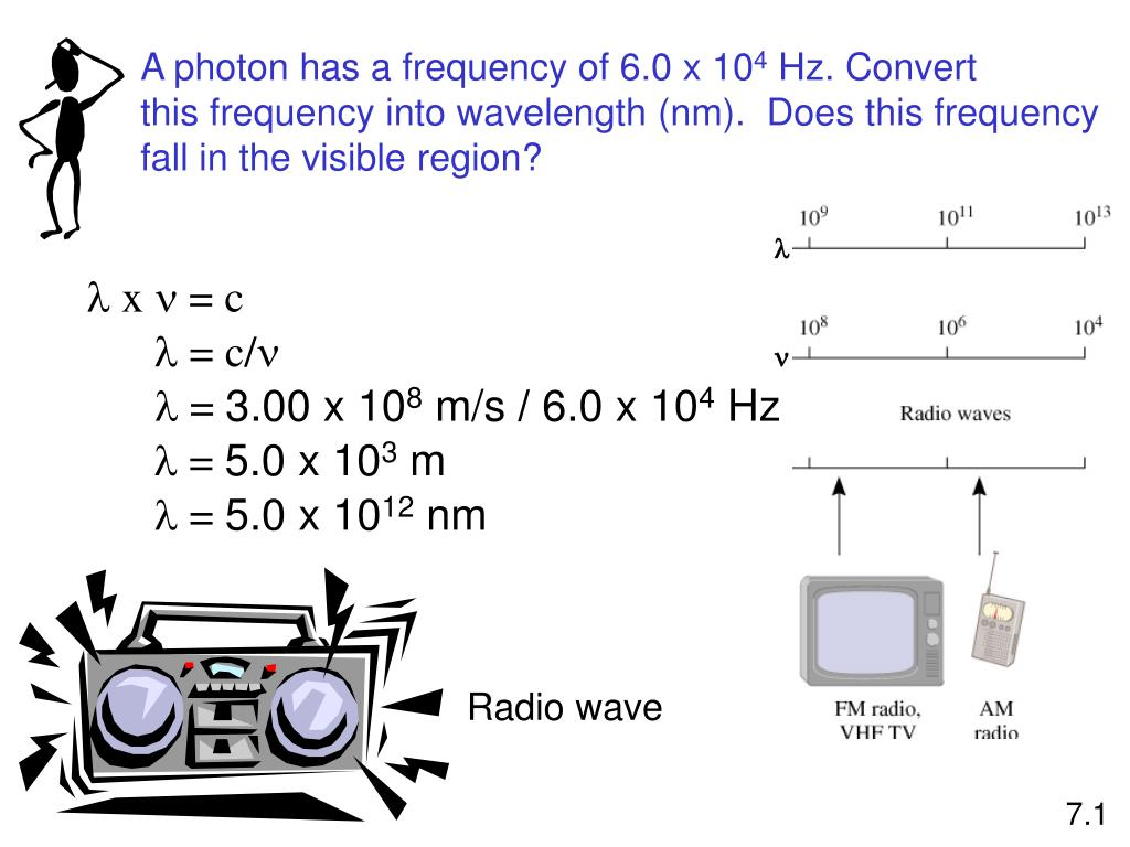 A photon has a frequency of 6.0 x 10